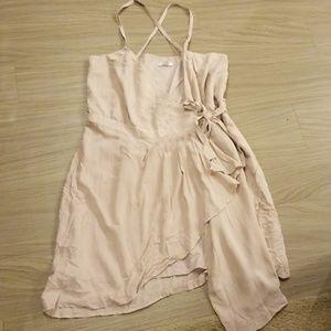 Gap cream wrap dress